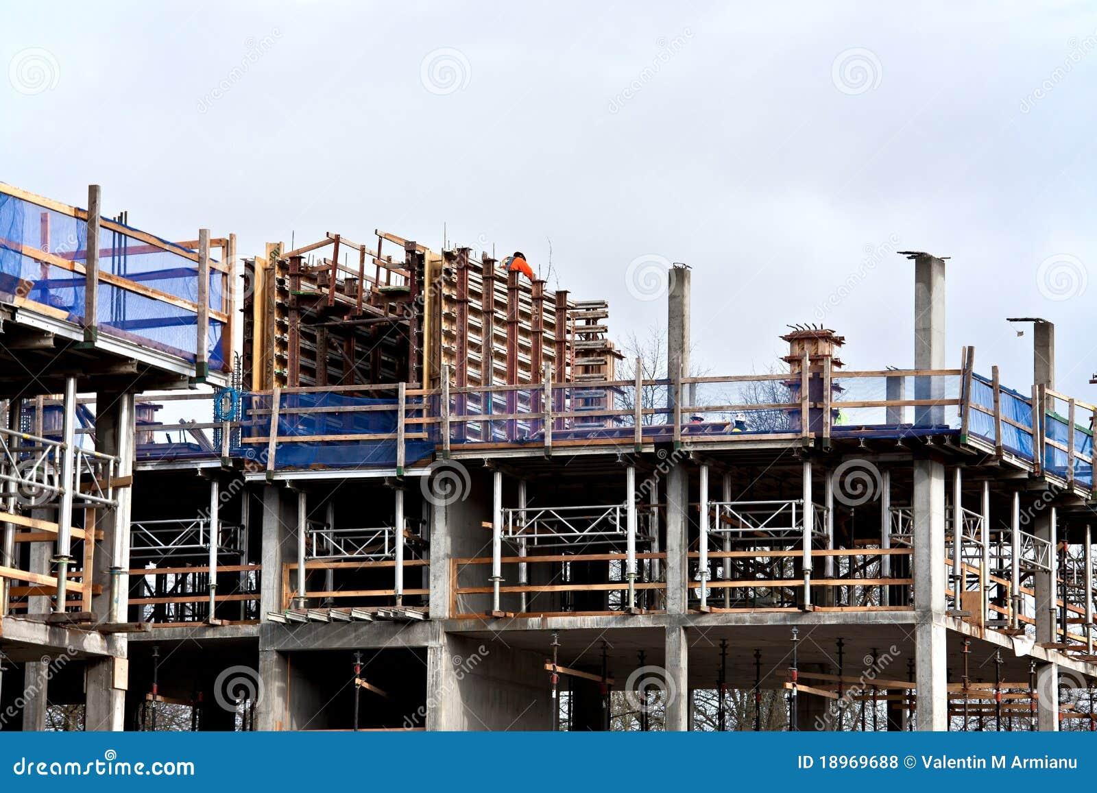 chantier de construction photo stock image du ouvrier