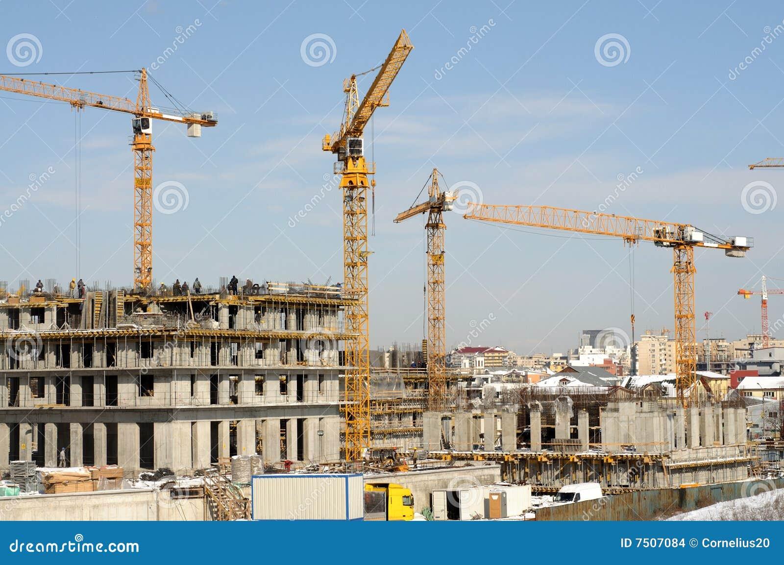 Chantier de construction photo stock image du for Chantiers de construction