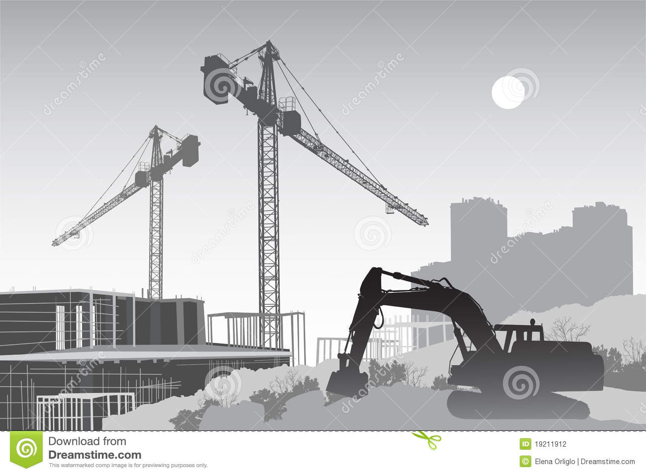 Chantier de construction avec des grues