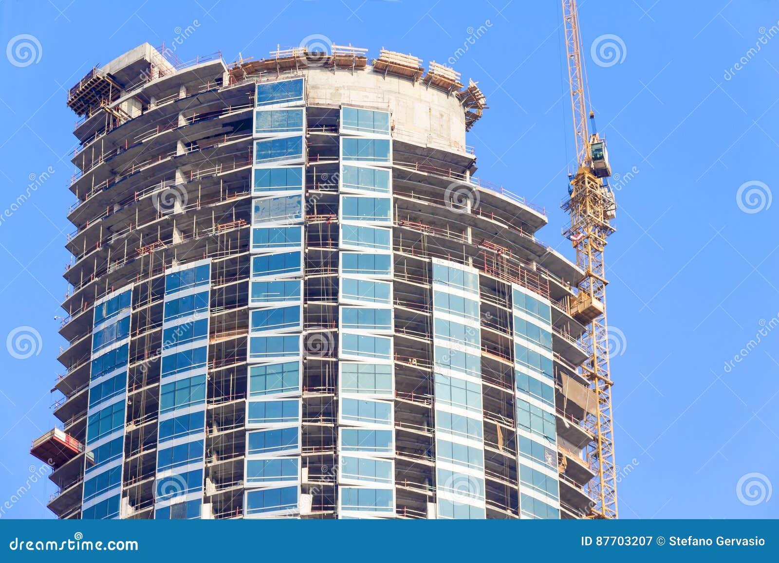 Chantier de construction d un gratte-ciel
