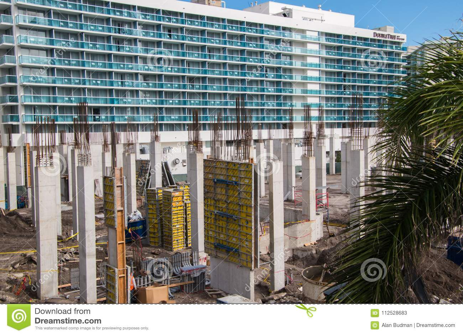 Chantier de construction dans Hallandale la Floride