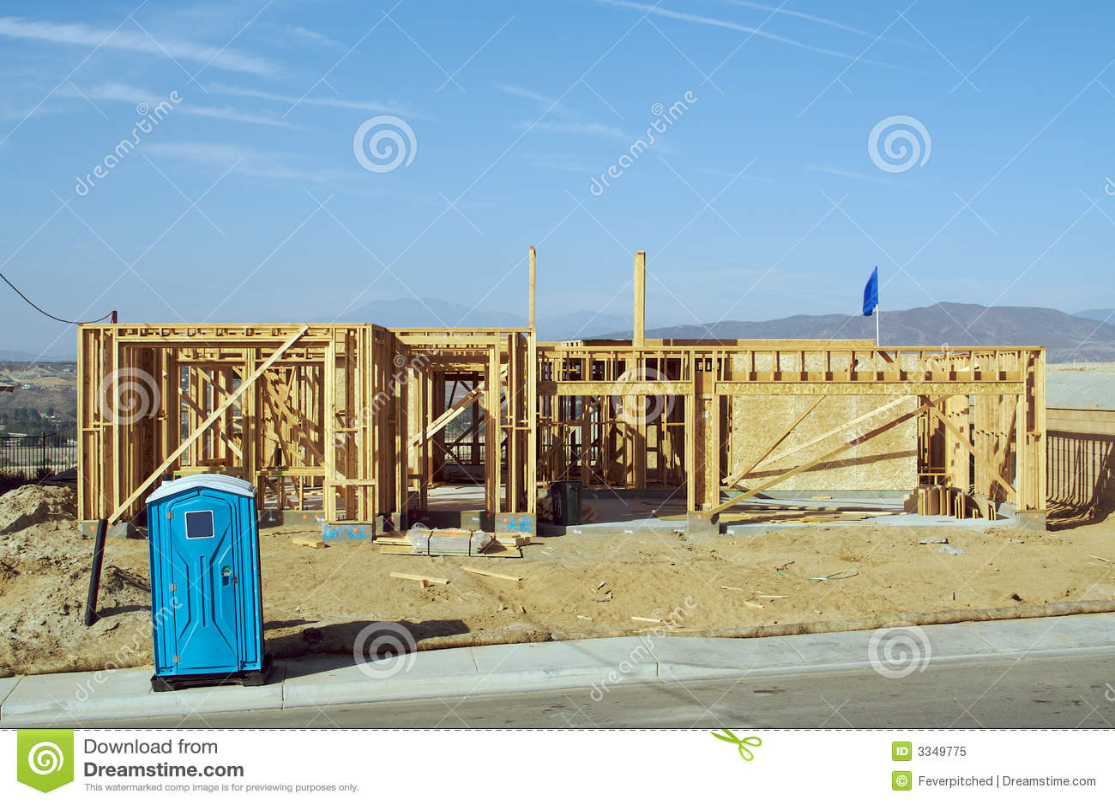Chantier et encadrement de construction photo libre de for Assurance chantier construction maison