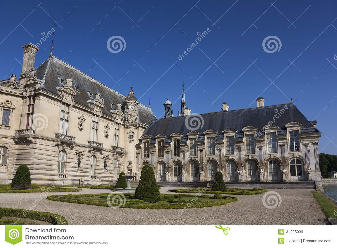 Chantilly France  city images : Chantilly Castle, Picardie, France Royalty Free Stock Image Image ...