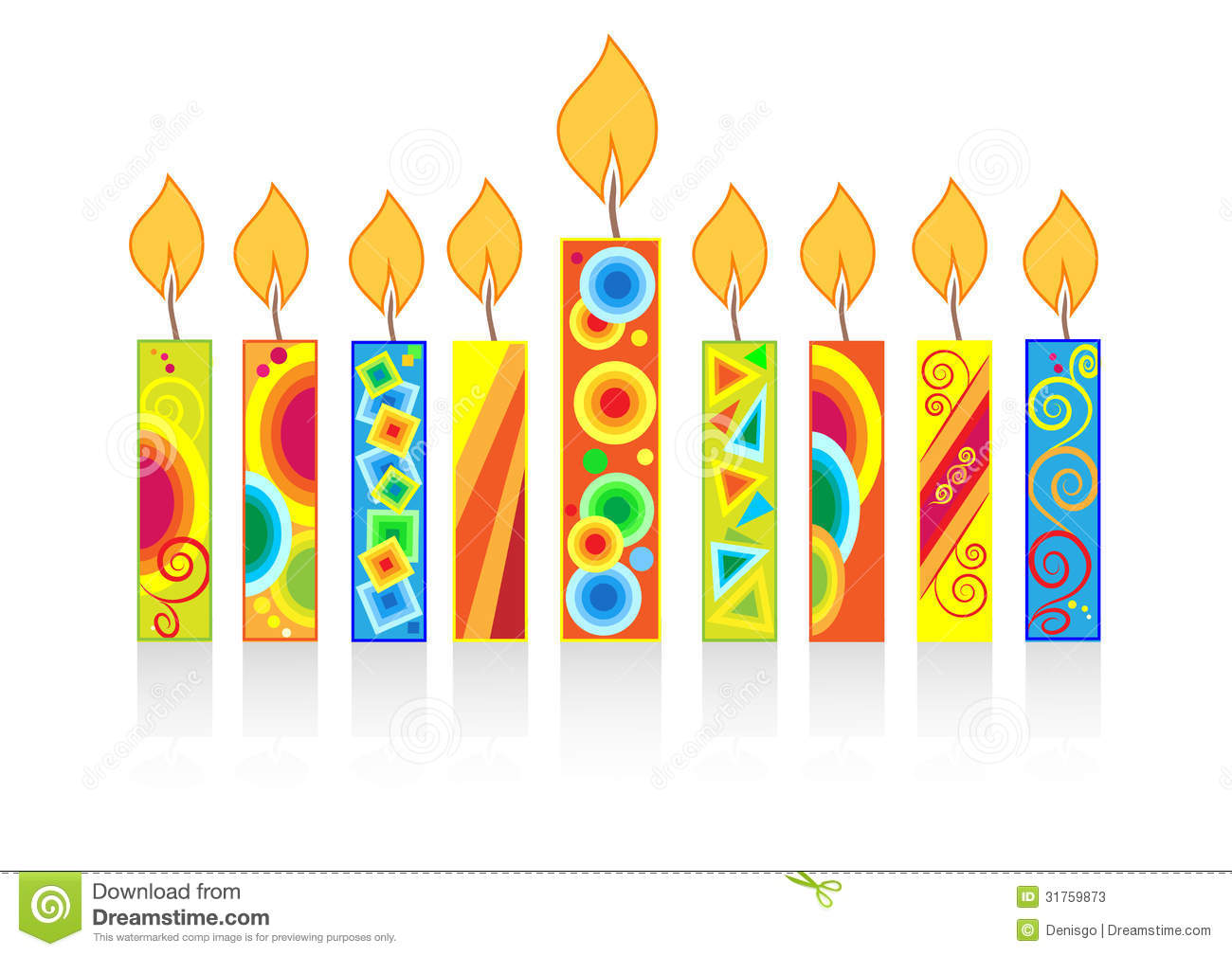 Chanukah Background With Candles Stock Photos - Image: 31759873