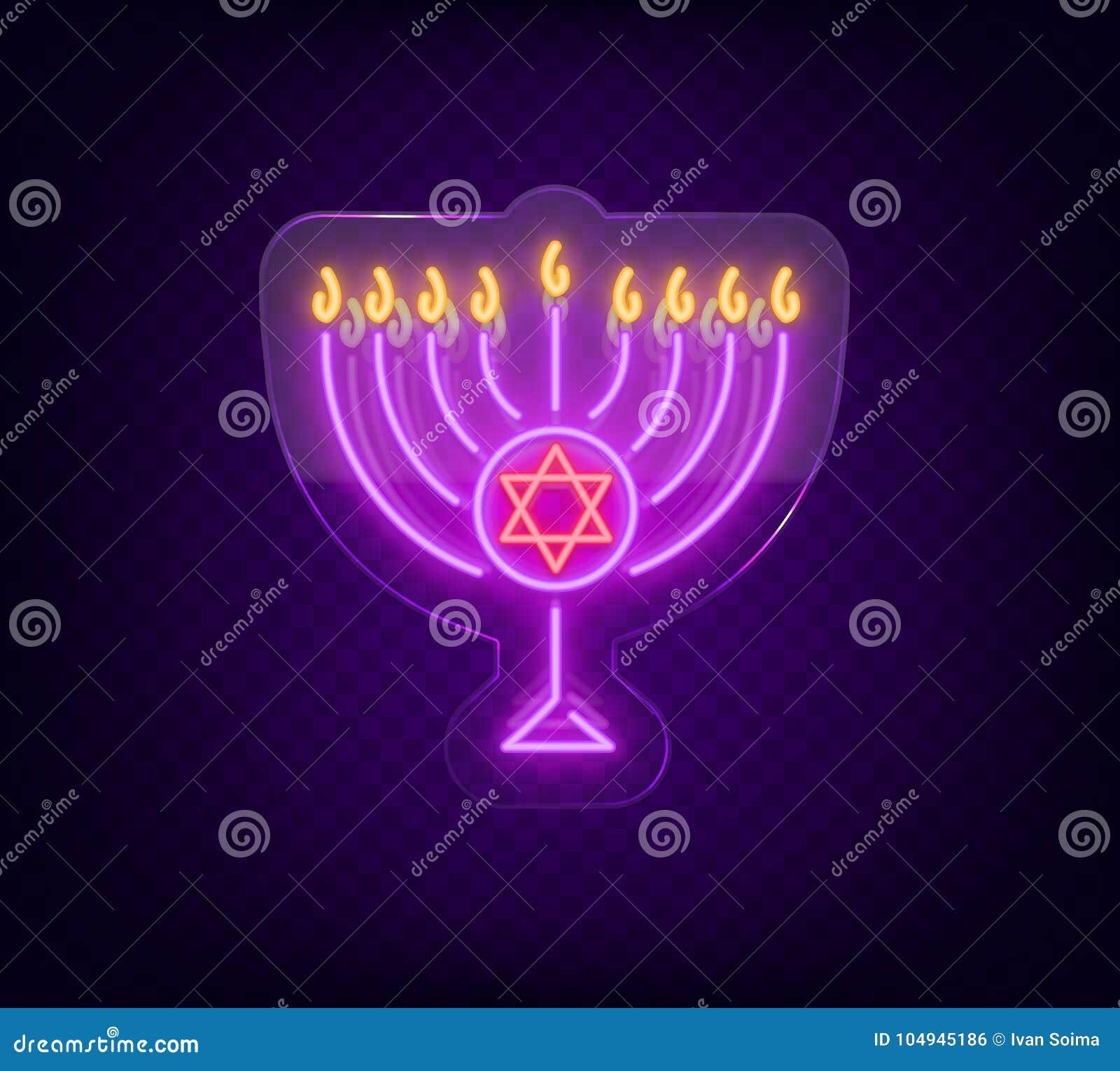 Chanukah vector design happy hanukkah neon sign bright luminous download chanukah vector design happy hanukkah neon sign bright luminous banner for greetings m4hsunfo