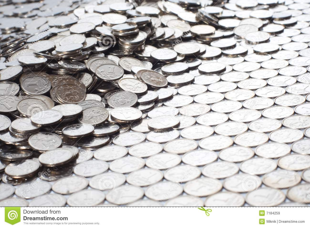 From Chaos To Order Stock Image Image Of Nickel Dime 7184259