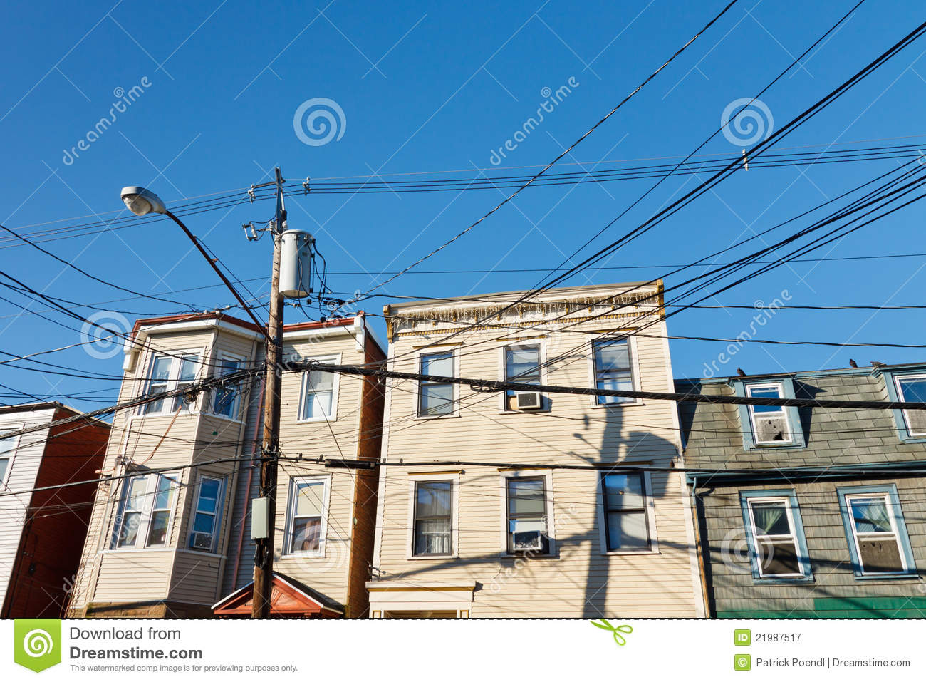 India Electrical Power Lines Not Lossing Wiring Diagram Residential Chaotic Electric Royalty Free Stock Photography Pole In