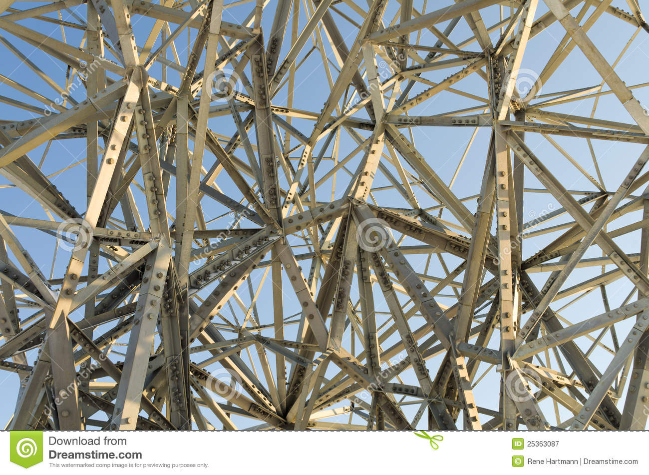 Chaotic Steel Structure Or Art Royalty Free Stock