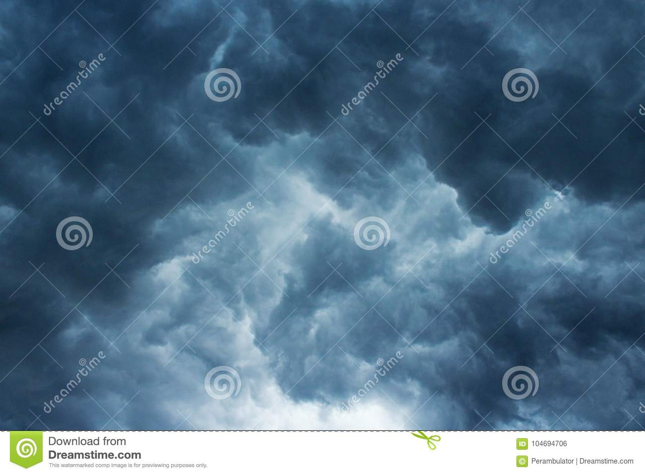 CHAOTIC STORM CLOUDS