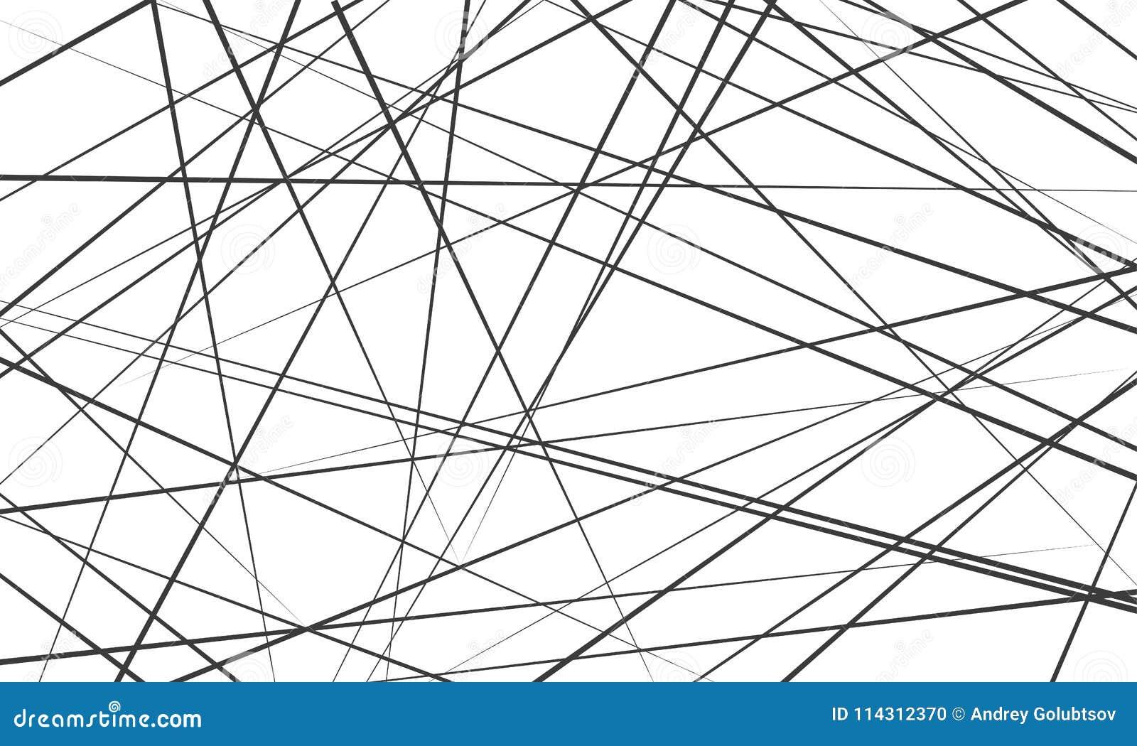 Chaotische abstrakte Linien Vektormusterhintergrund