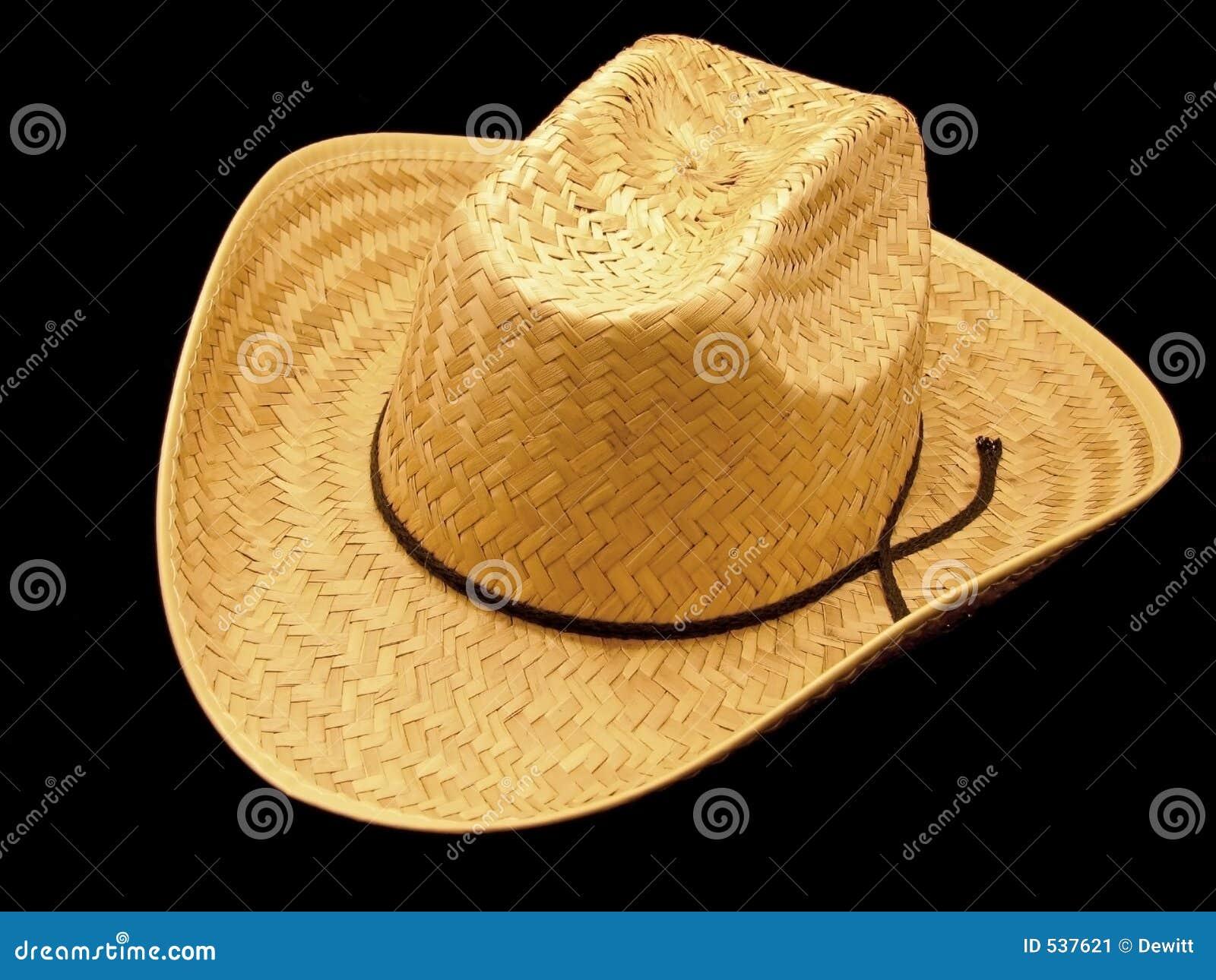 Chapéu de cowboy da palha