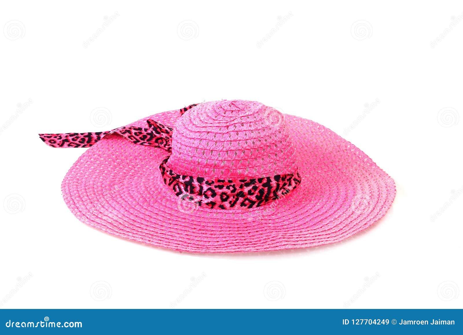 Chapéu De Palha Bonito Com Fita E Curva No Fundo Branco E Imagem de ... 1384ff5eedf