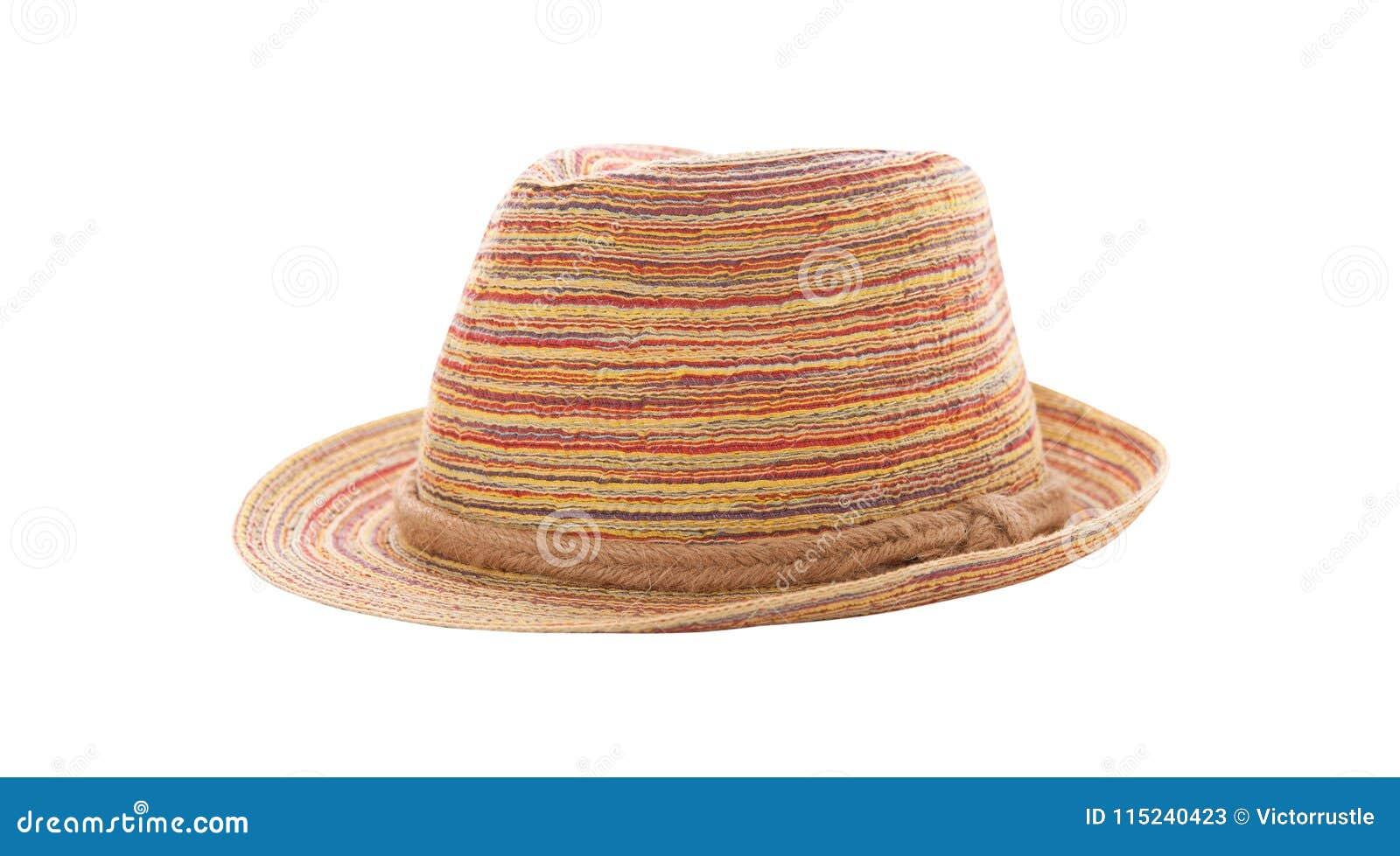 Chapéu De Palha Bonito Isolado No Fundo Branco d2826a804eb