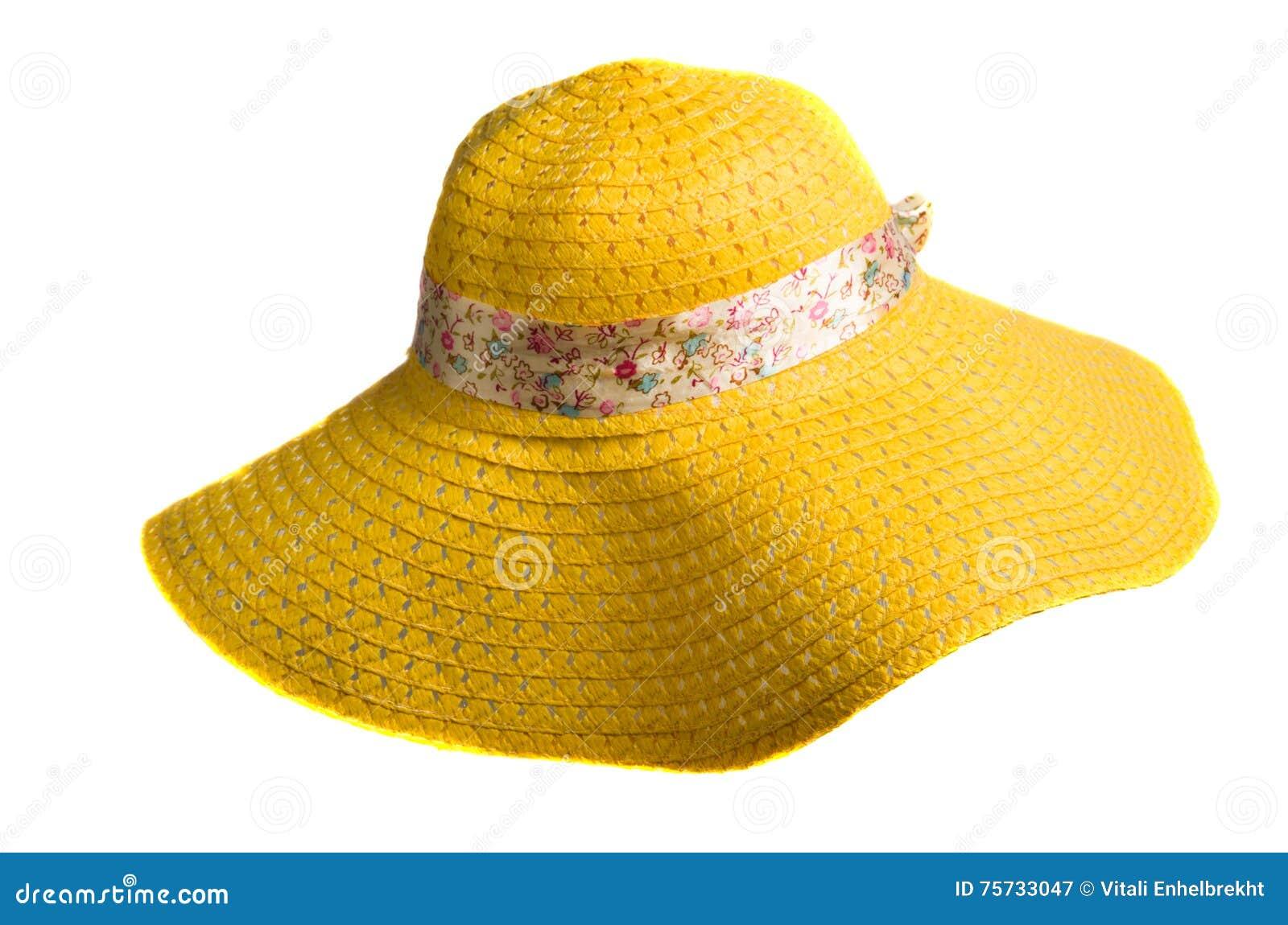 Chapéu De Palha Isolado No Fundo Branco Imagem de Stock - Imagem de ... 0b09918fcaf