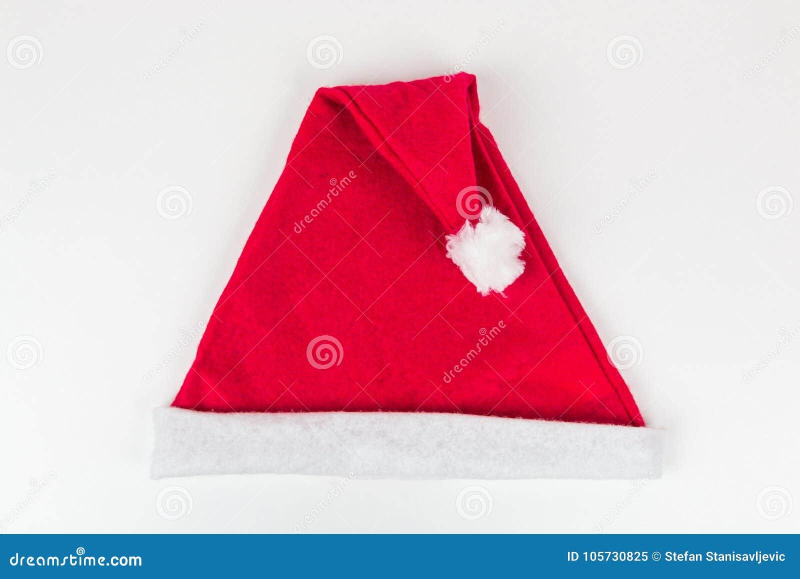 Chapéu de Papai Noel no fundo branco