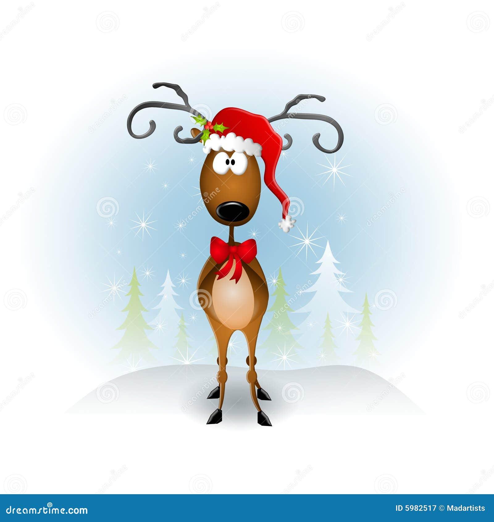 Chapéu de Santa da rena dos desenhos animados