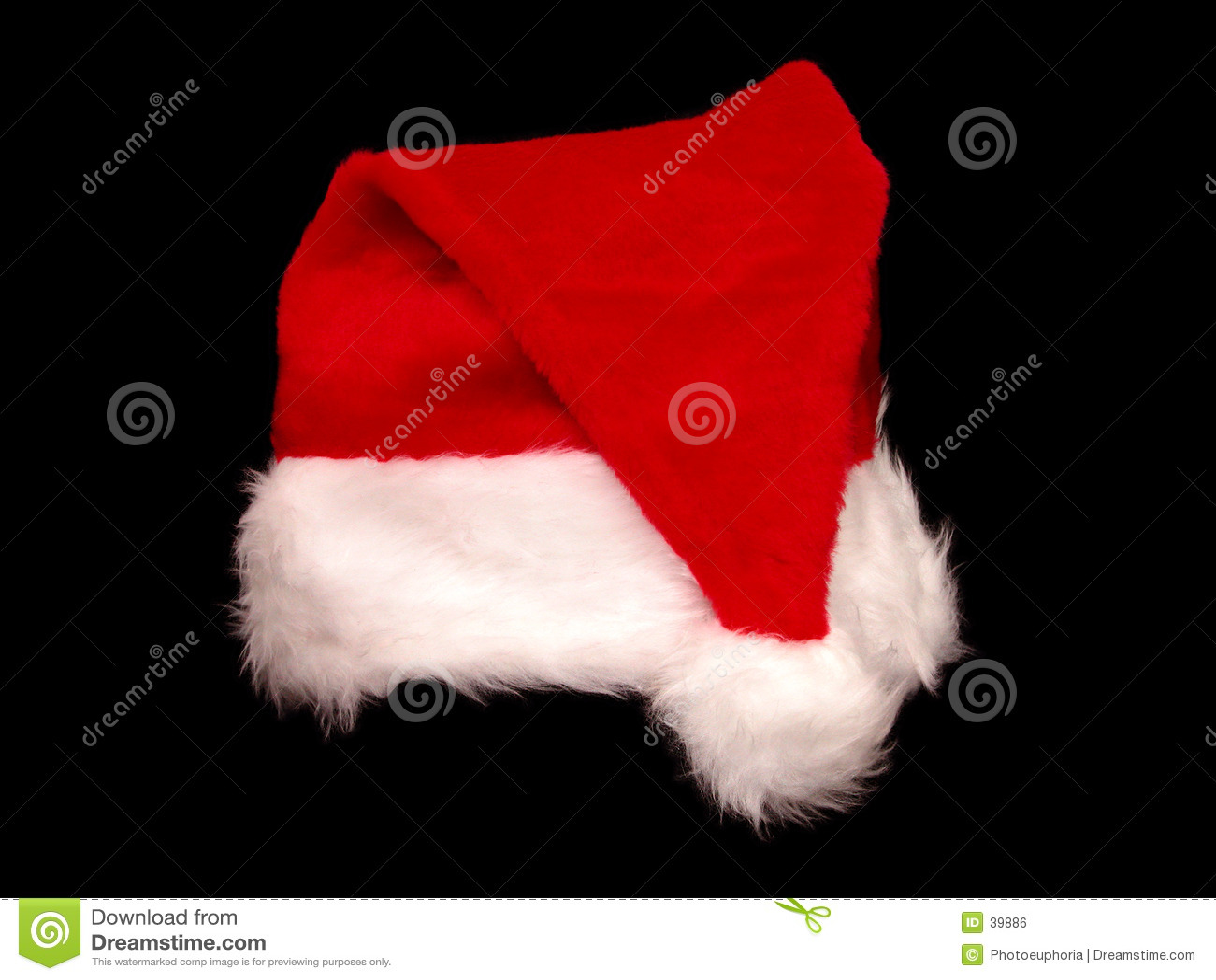 Chapéu de Santa do Natal no preto