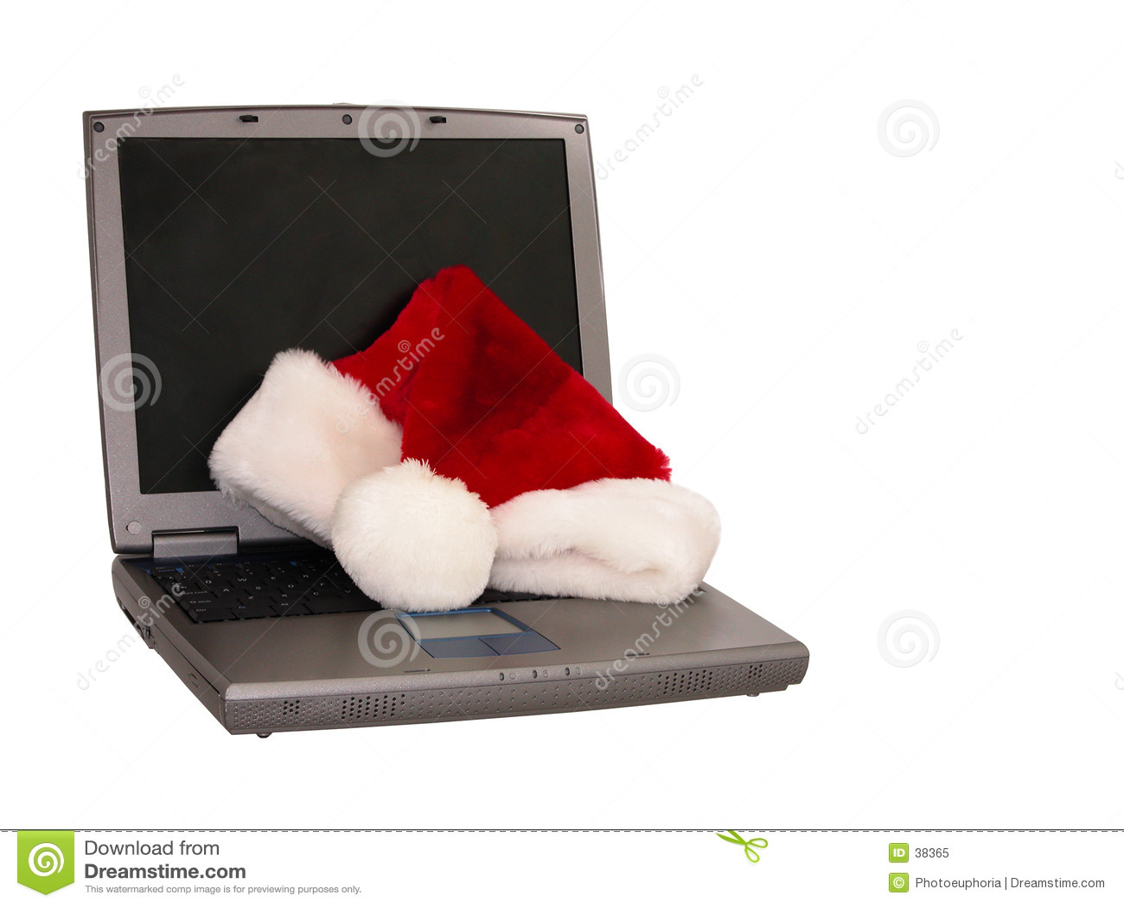 Chapéu de Santa que senta-se em um portátil (3 de 3)