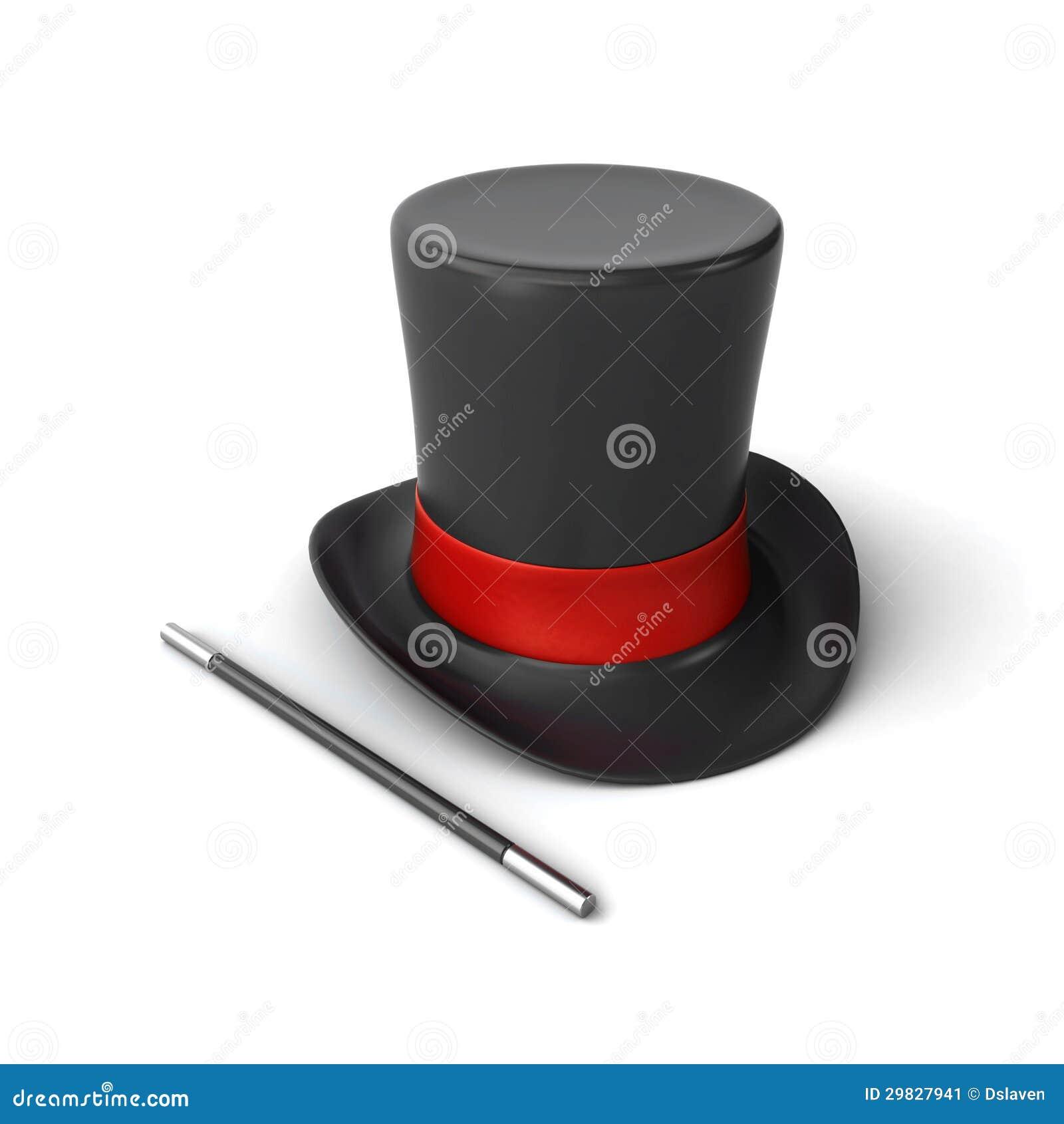 Chapéu e varinha do mágico
