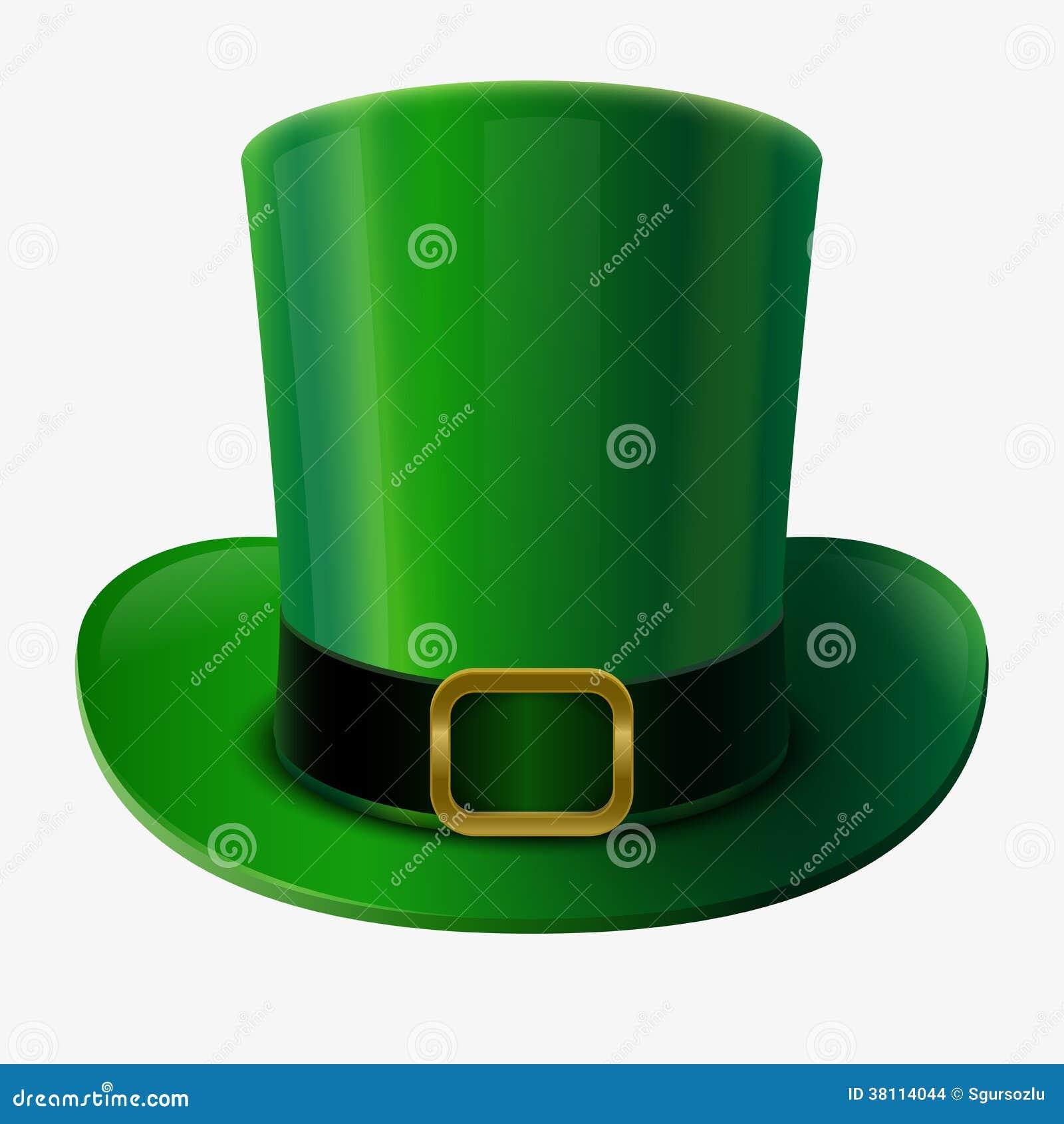 edb8da3915fee Chapéu verde do duende ilustração do vetor. Ilustração de ireland ...