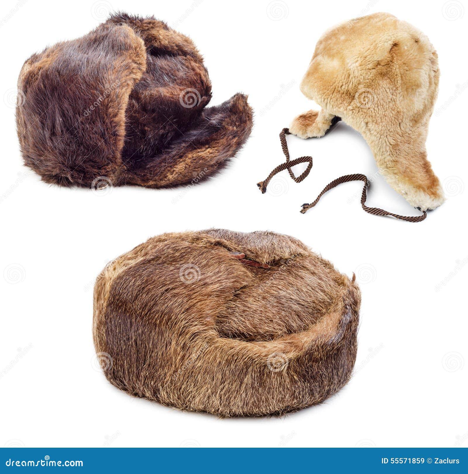 Chapéus forrado a pele