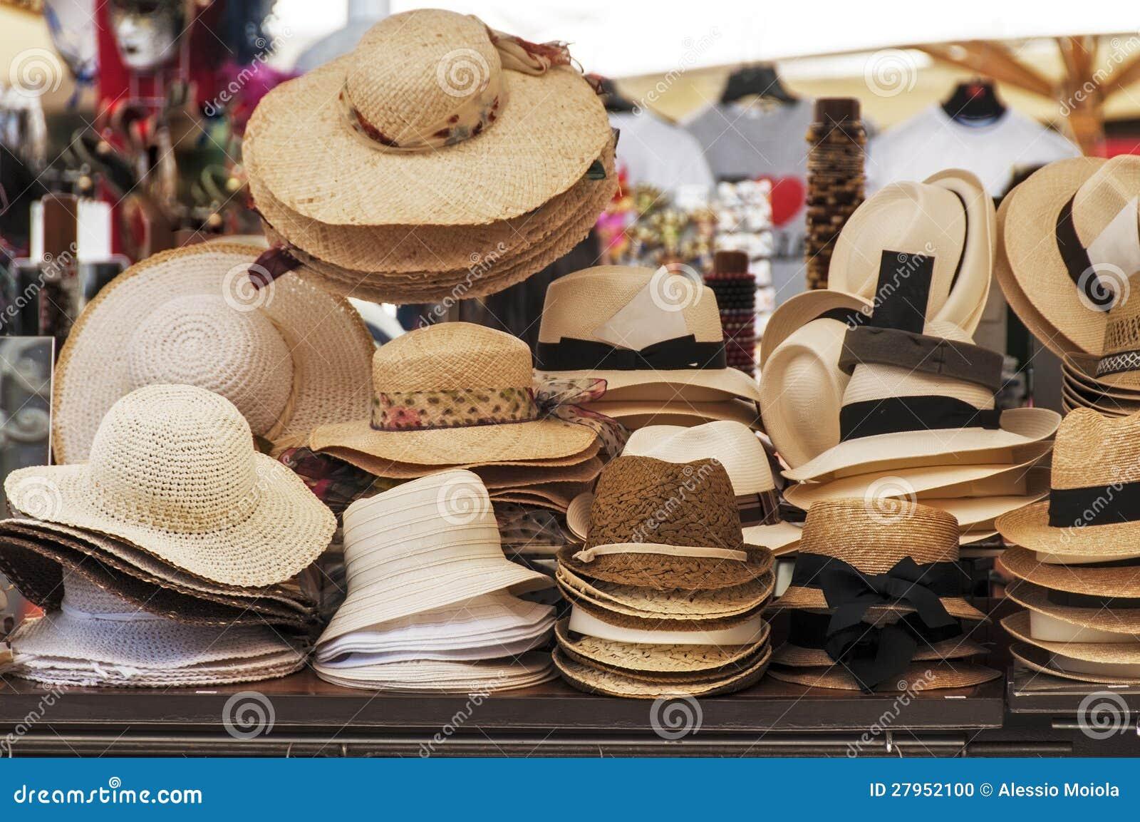 Chapéus para a venda