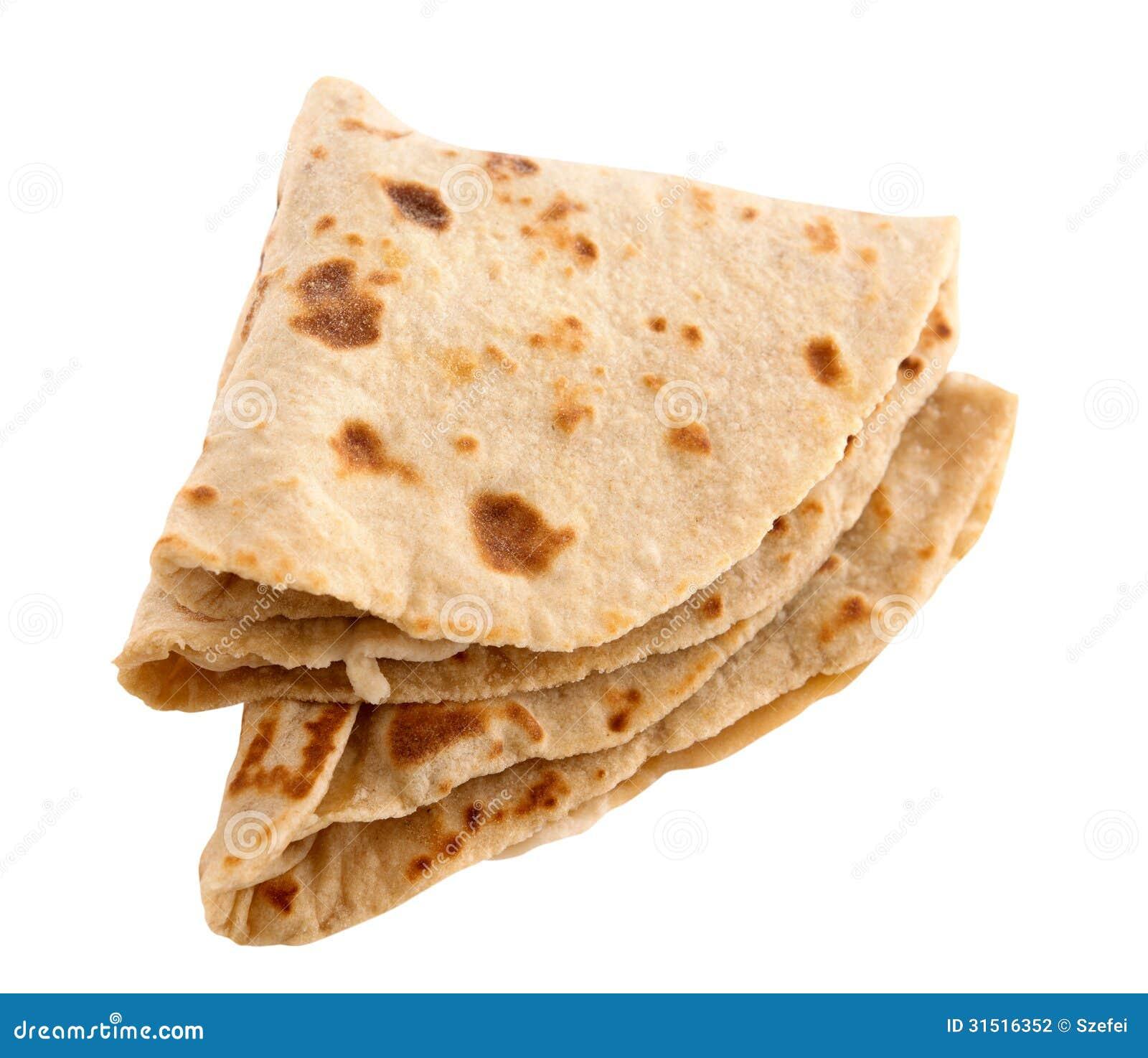 Chapati, chapathi, chapatti or flatbread, famous indian basic food ...
