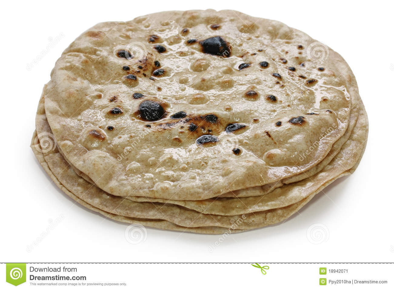 Chapati , Flat Indian Bread Stock Image - Image: 18942071