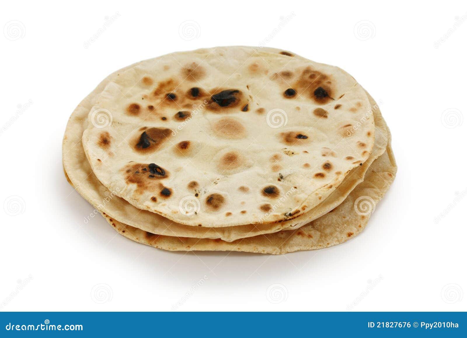 Chapati, flatbread ácimo indio