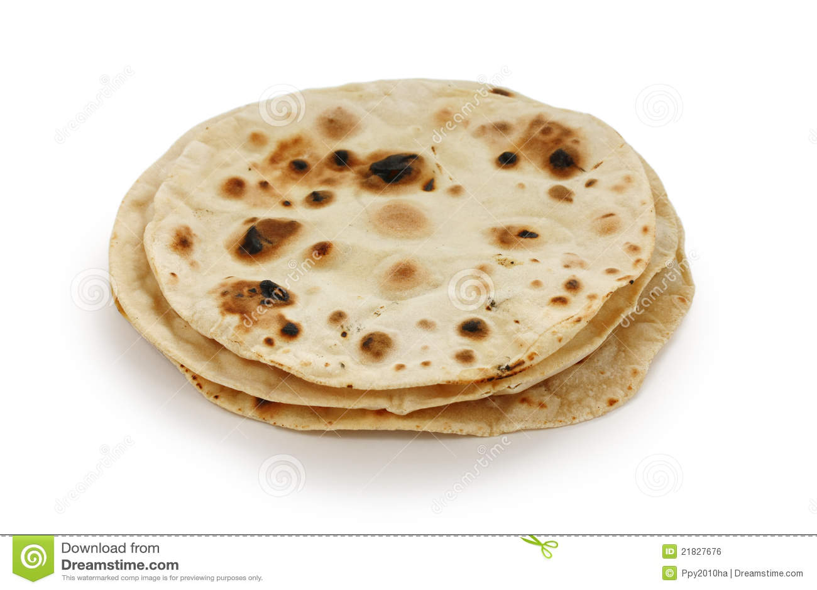 Chapati , Indian Unleavened Flatbread Royalty Free Stock Image - Image ...
