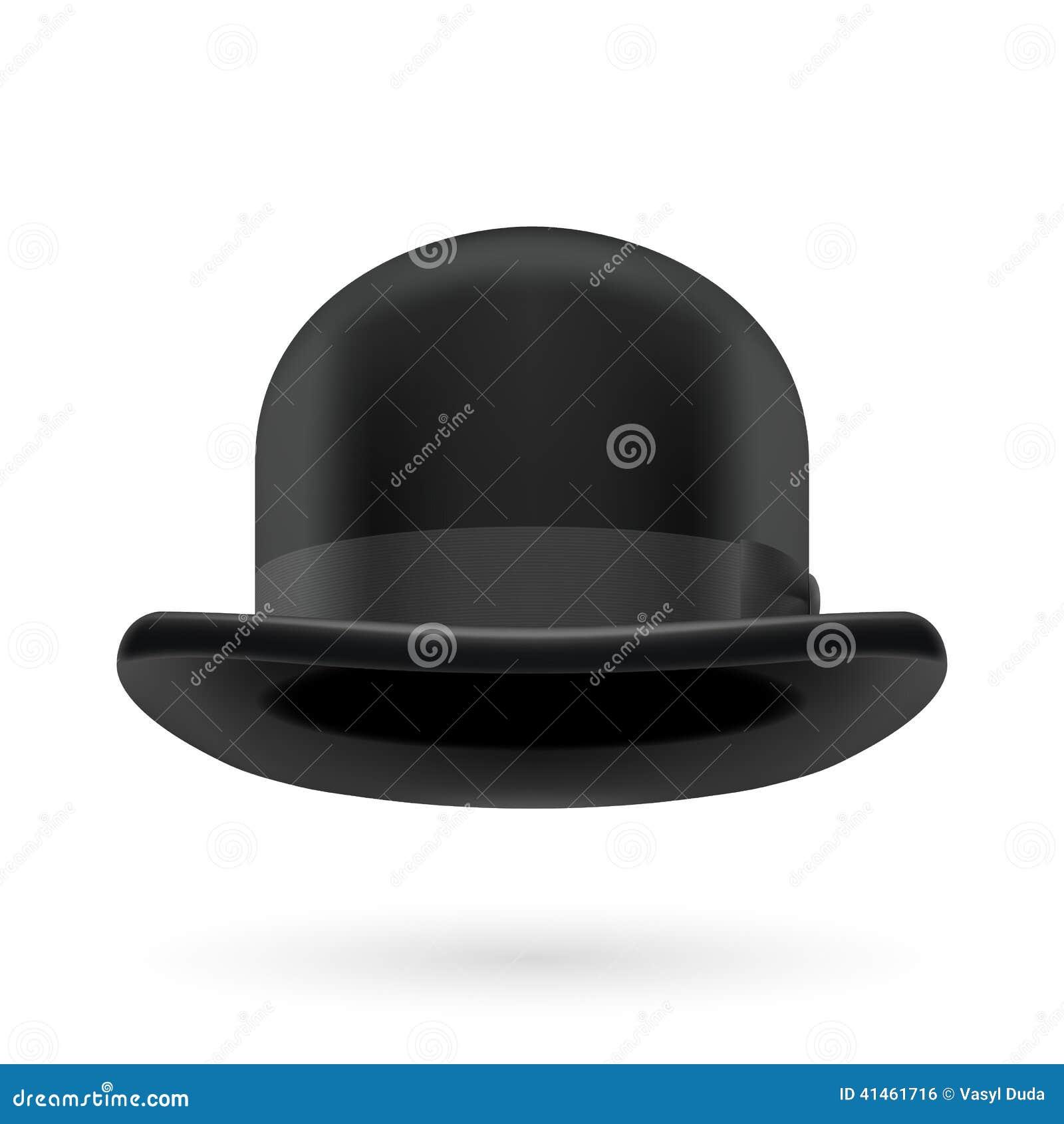 Chapeau de chapeau melon noir illustration de vecteur image 41461716 - Tableau chapeau melon pomme verte ...