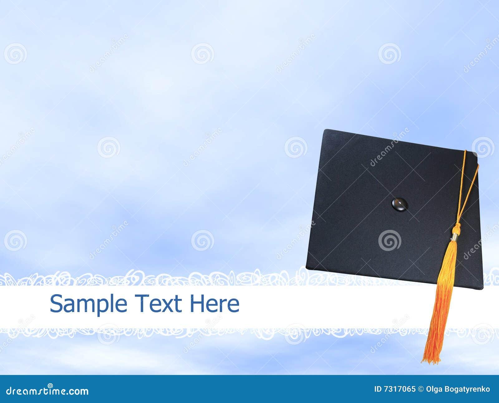 Chapeau de graduation de capuchon de fond