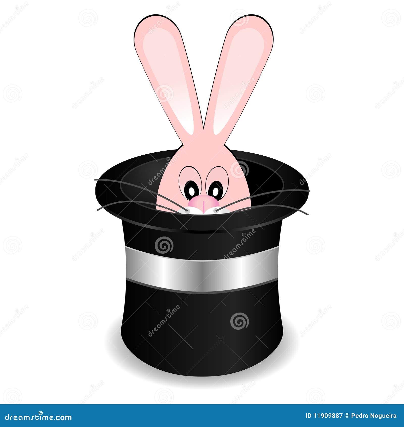 chapeau de magicien avec le lapin