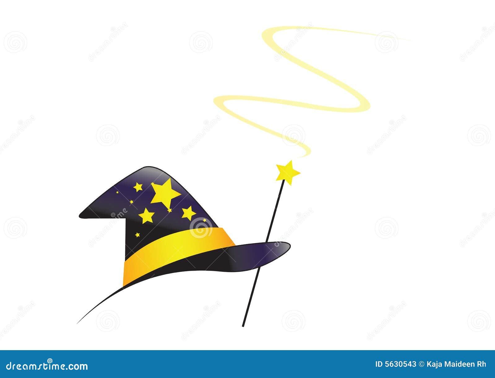 chapeau de magicien avec le remous vecteur
