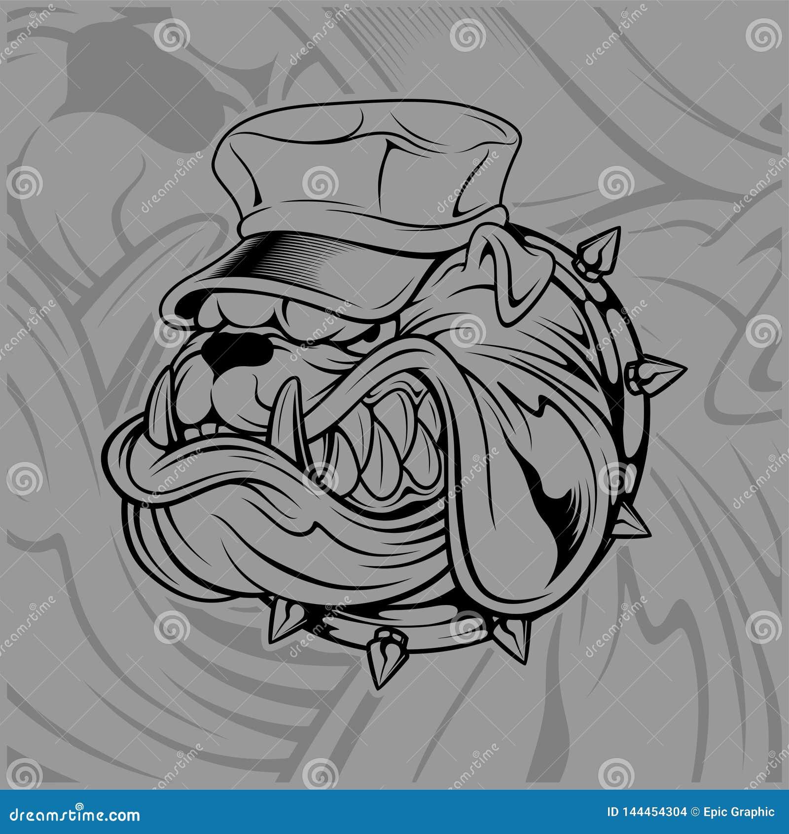Chapeau De Port De Bouledogue Illustration De Vecteur Illustration Du Chapeau Bouledogue 144454304