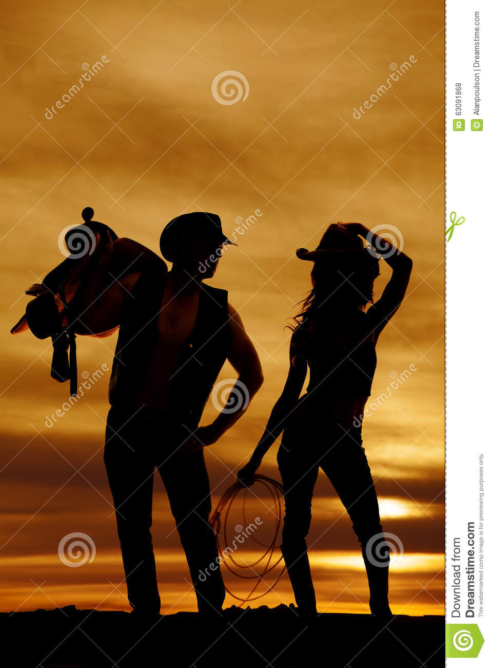 Download Chapeau De Prise De Corde De Cow-girl De Silhouette Photo stock - Image du confiant, isolement: 63091868