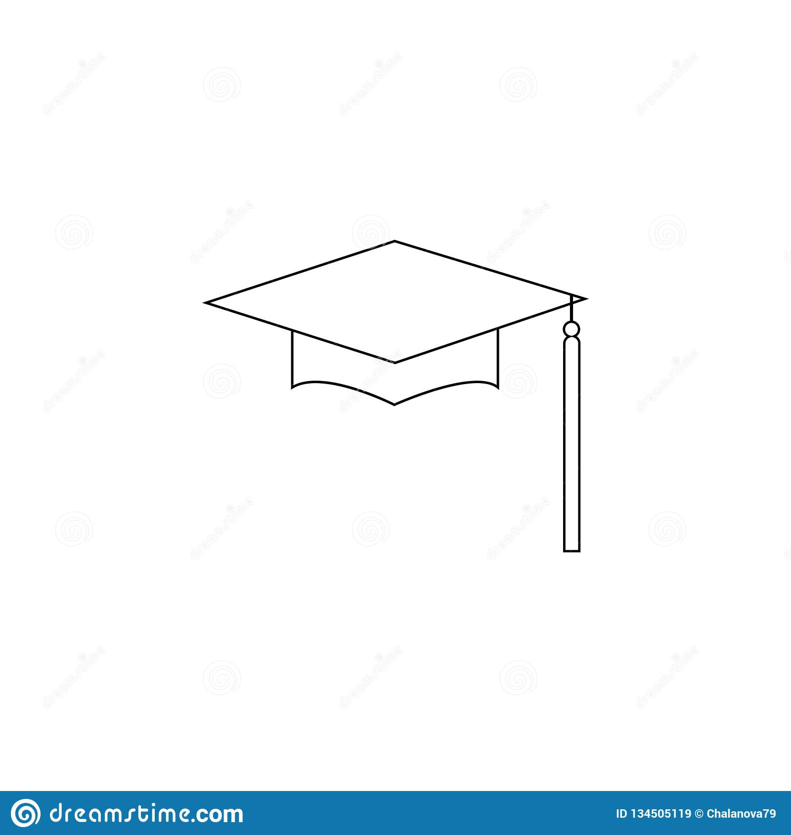 Chapeau Logo Template Design Elements d obtention du diplôme Illustration de vecteur d isolement sur le fond blanc
