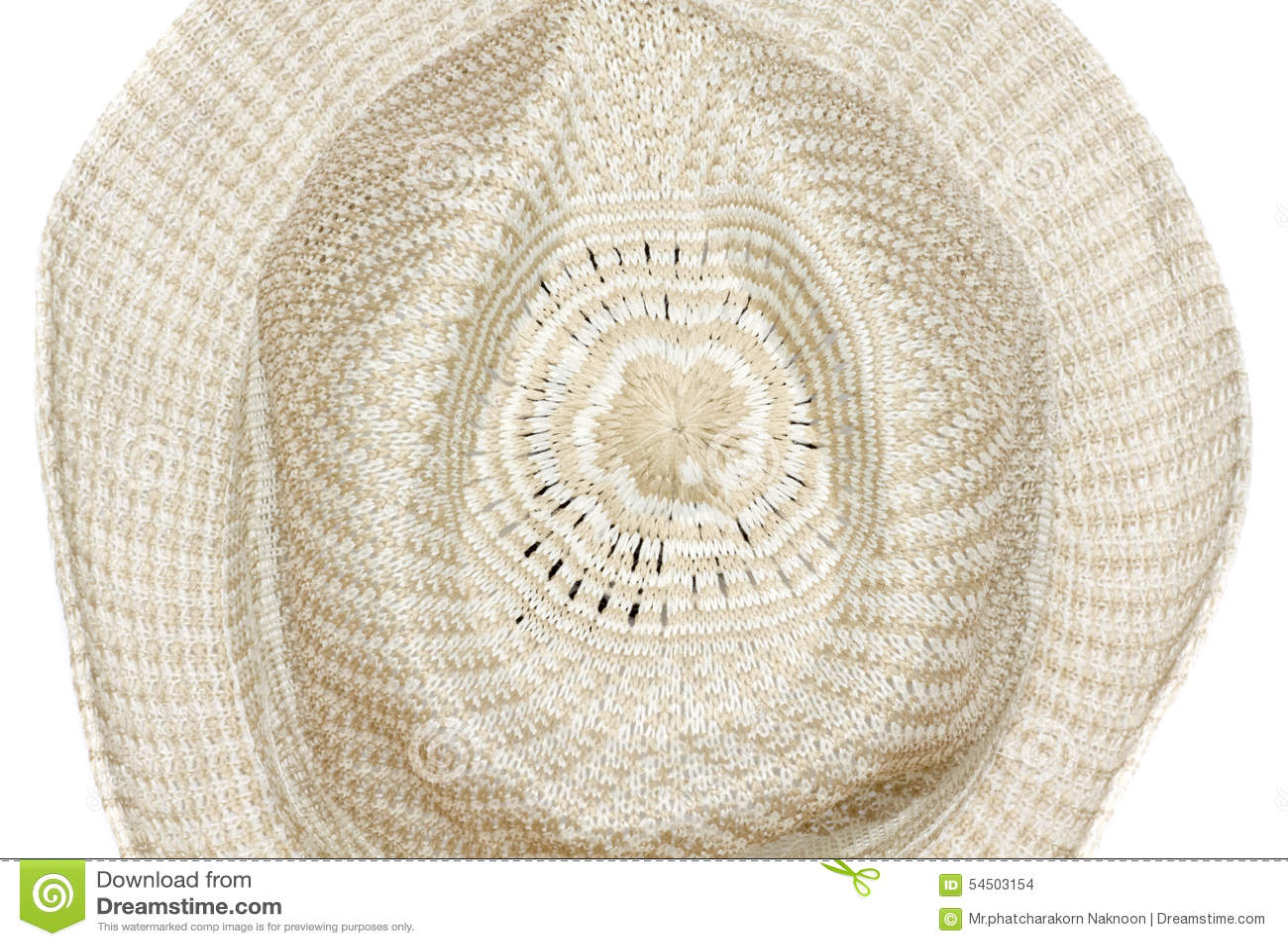 Chapeau tissé par paille d isolement sur le fond blanc