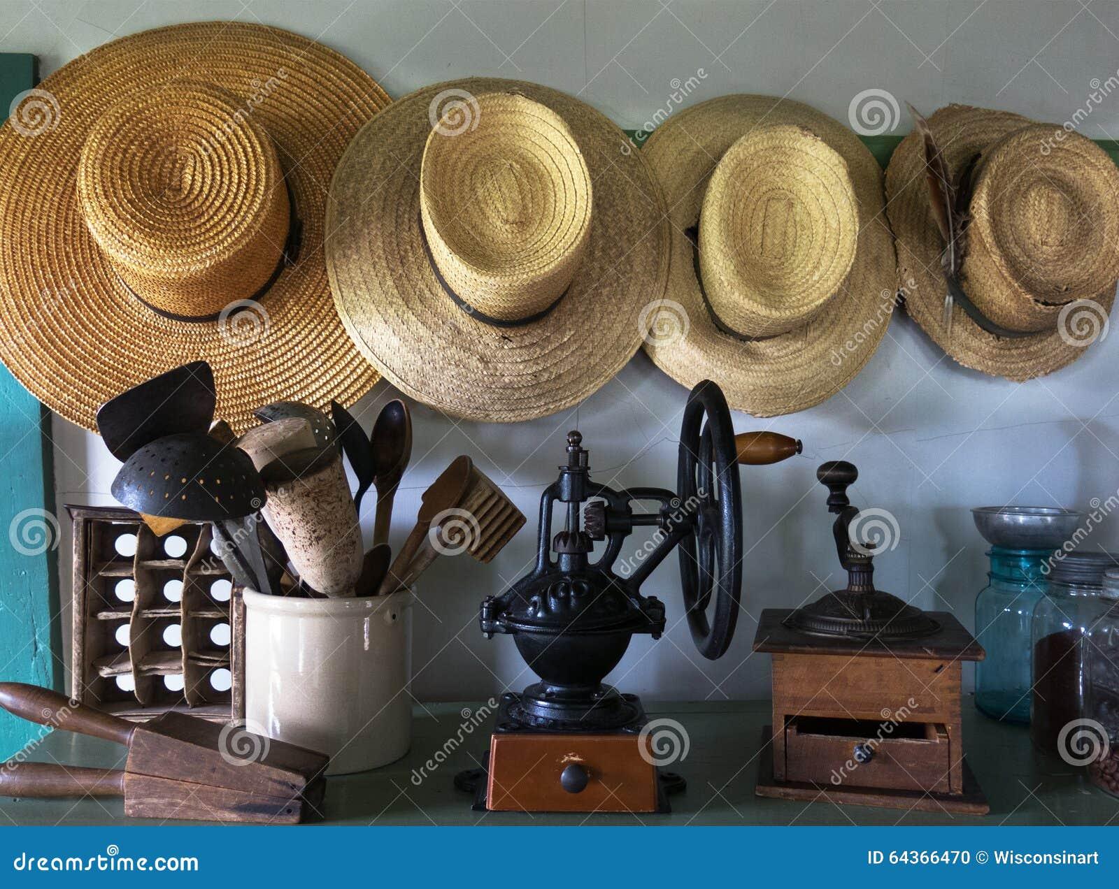 Chapeaux amish de ferme de pays, office