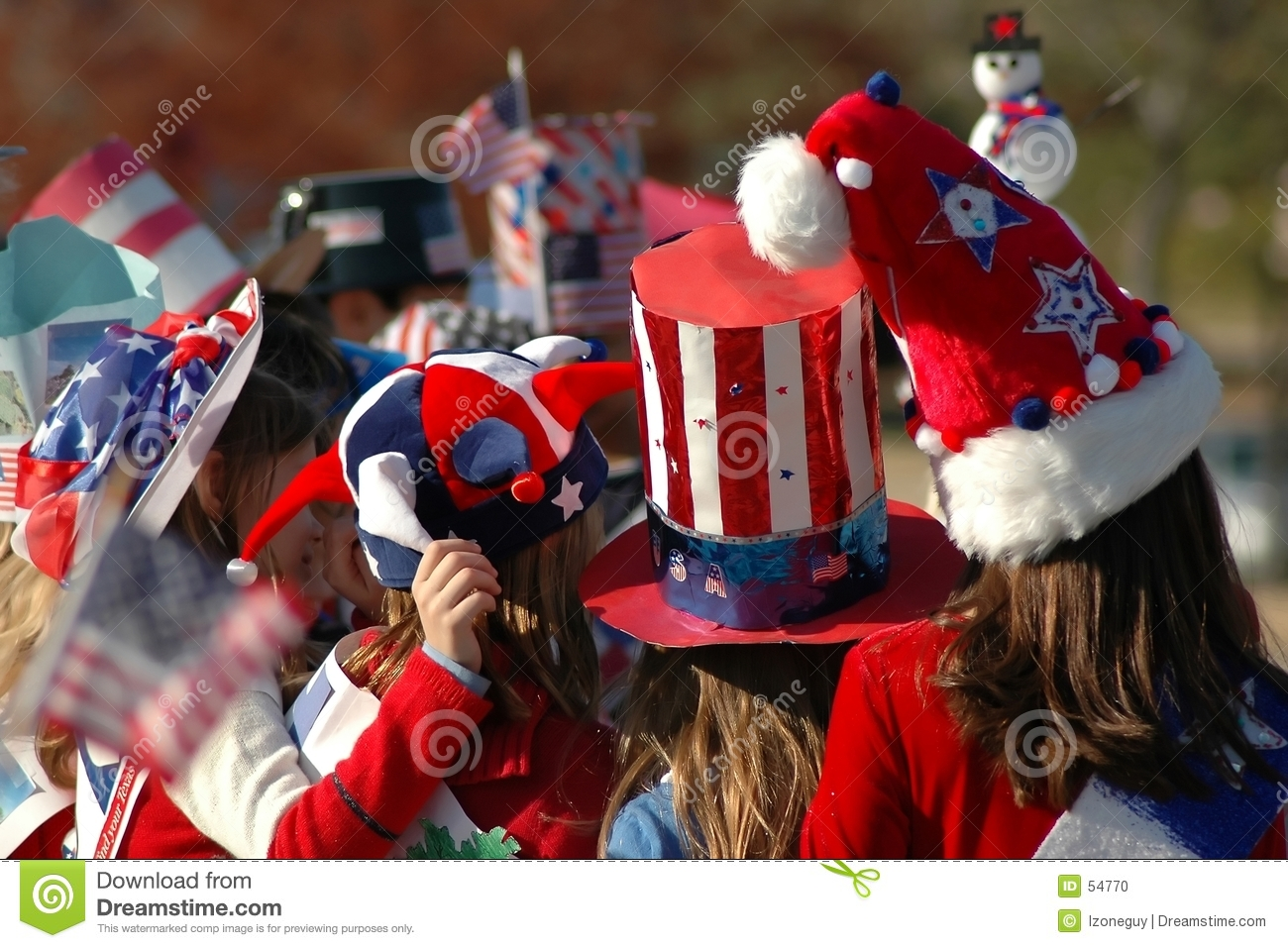 Download Chapeaux Rouges, Blancs Et Bleus Photo stock - Image du raies, chapeaux: 54770