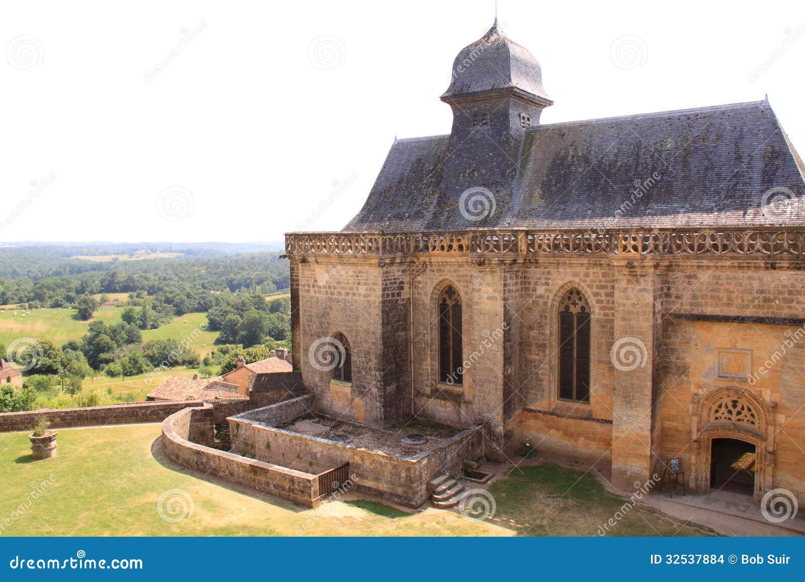 Chapel chateau de biron, dordogne france