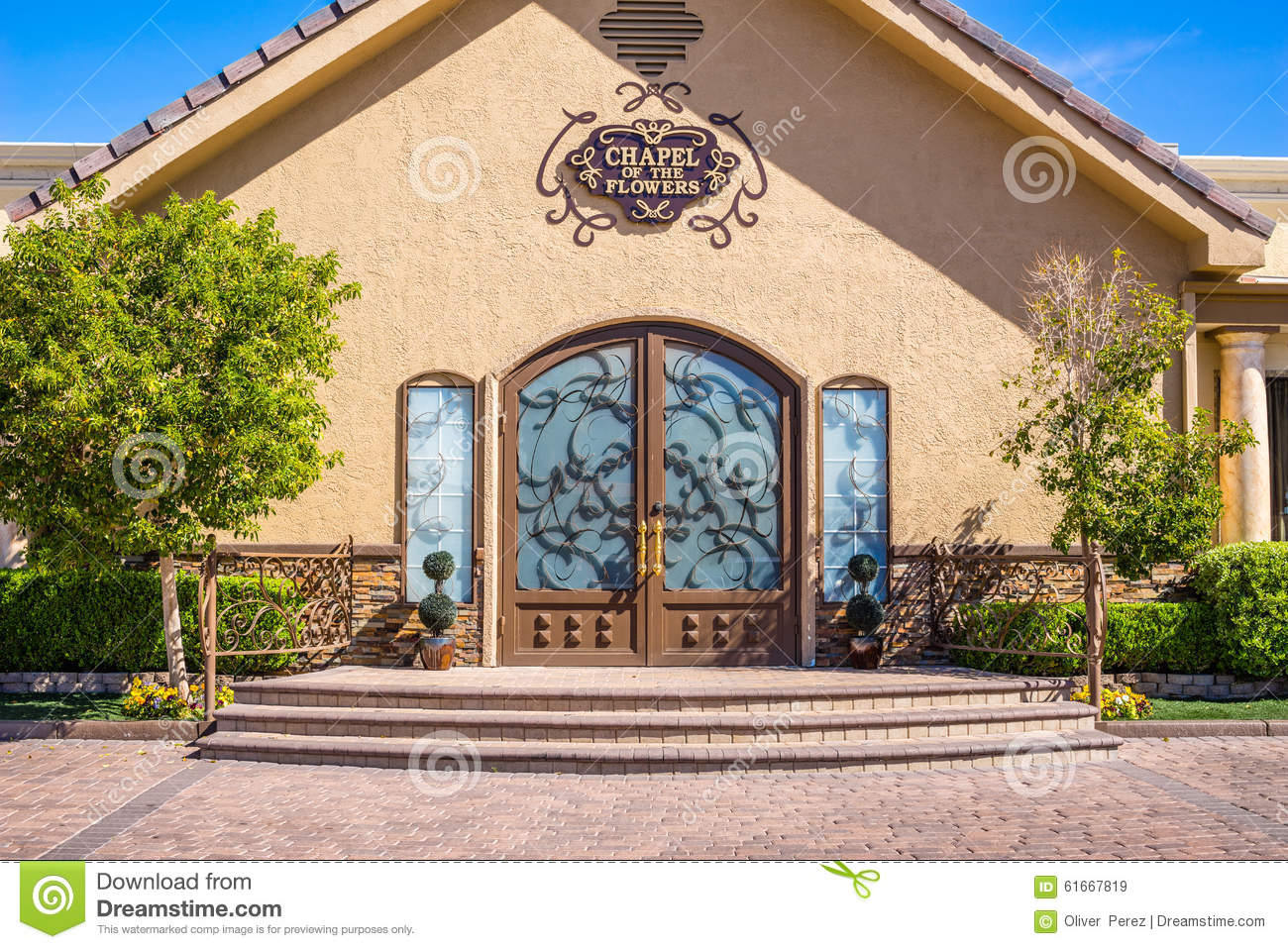 The Chapel The Flowers Las Vegas Nevada Editorial Stock Image Image 616
