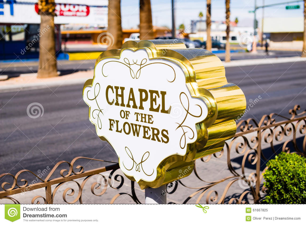 The Chapel The Flowers Las Vegas Nevada Editorial Image Image
