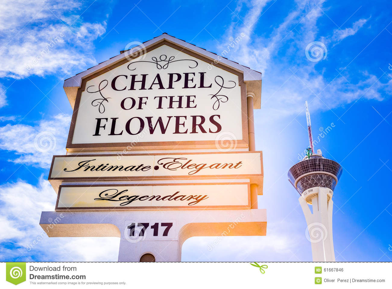 The Chapel The Flowers Las Vegas Nevada Editorial Image