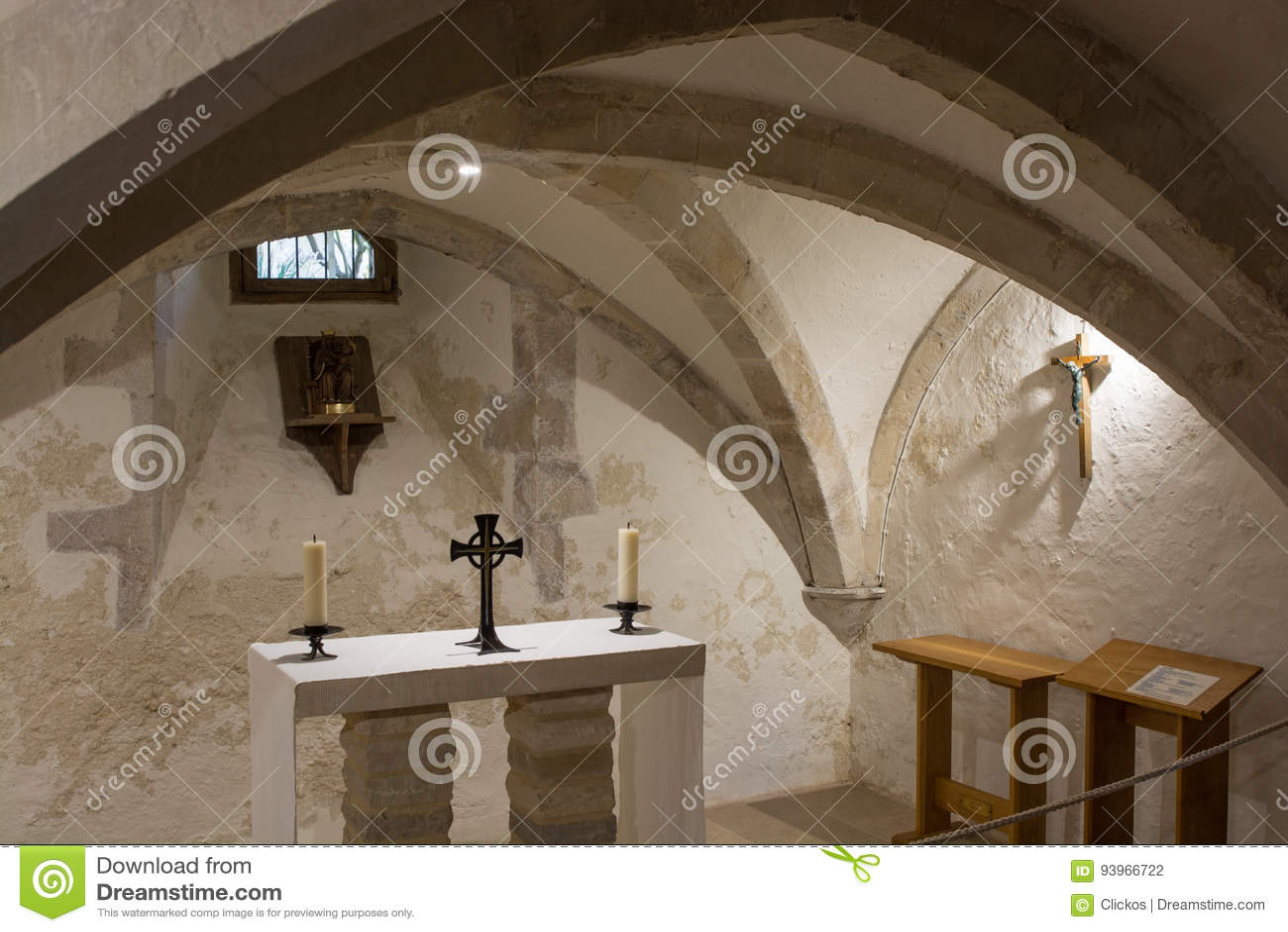 Chapel in Holy Trinity Church, Bosham, Sussex, England