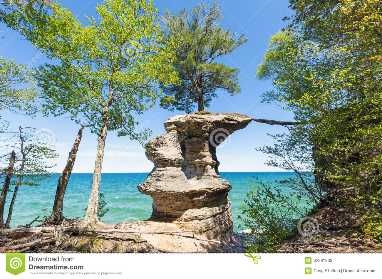Pictured Rocks National Lakeshore Michigan Royalty Free Stock Photography