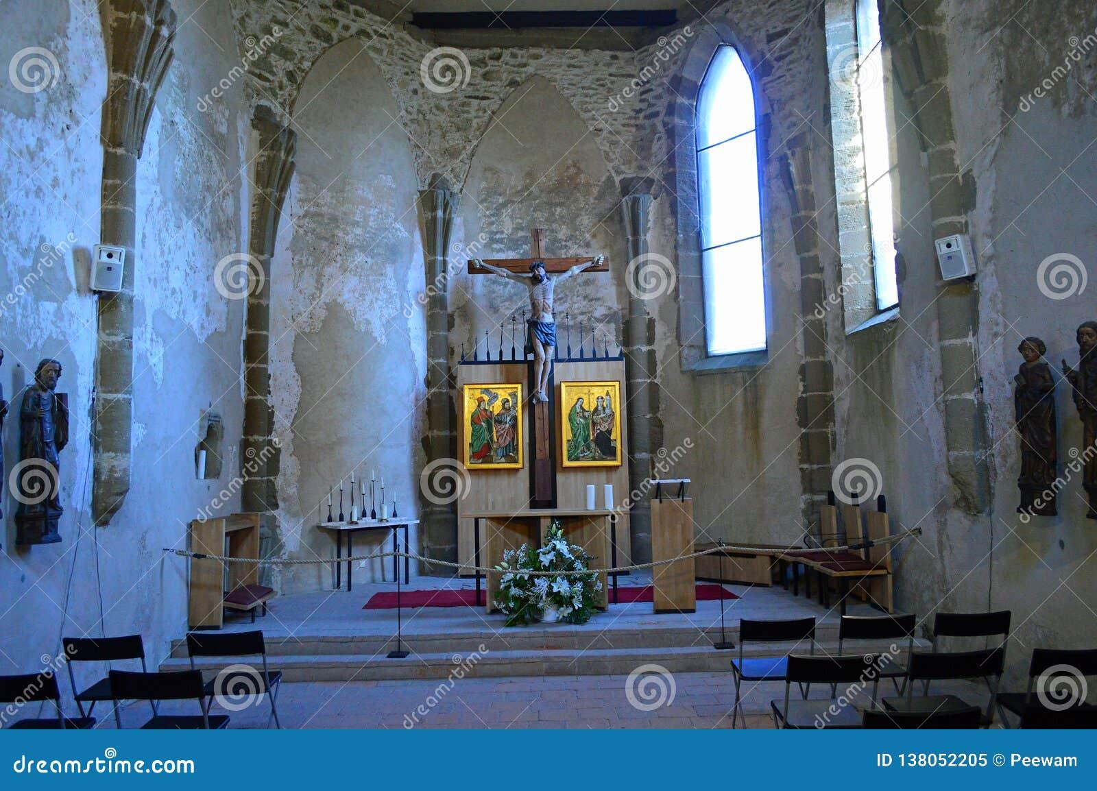 Spis Castle Spišský hrad interior view - chapel