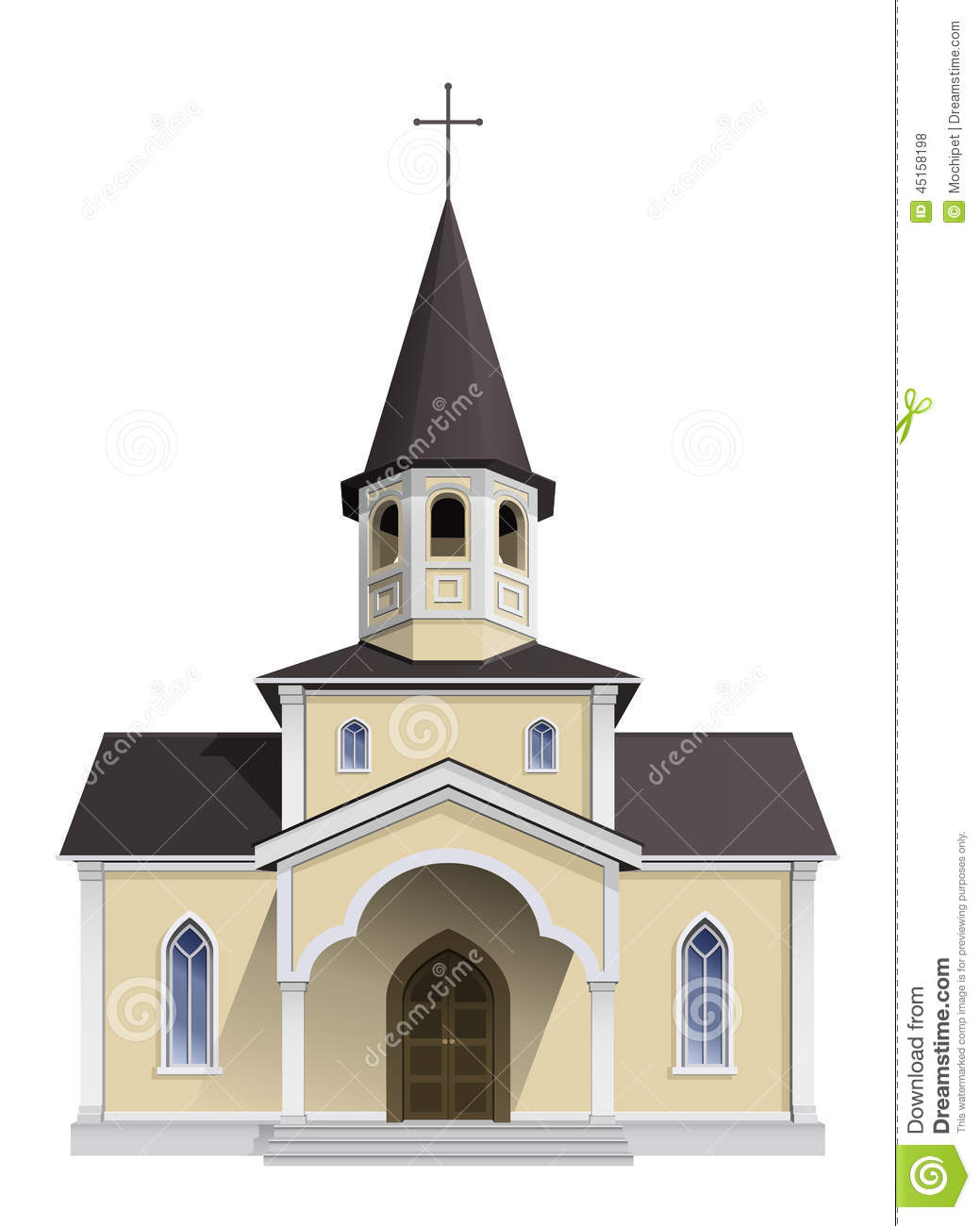 chapel stock vector