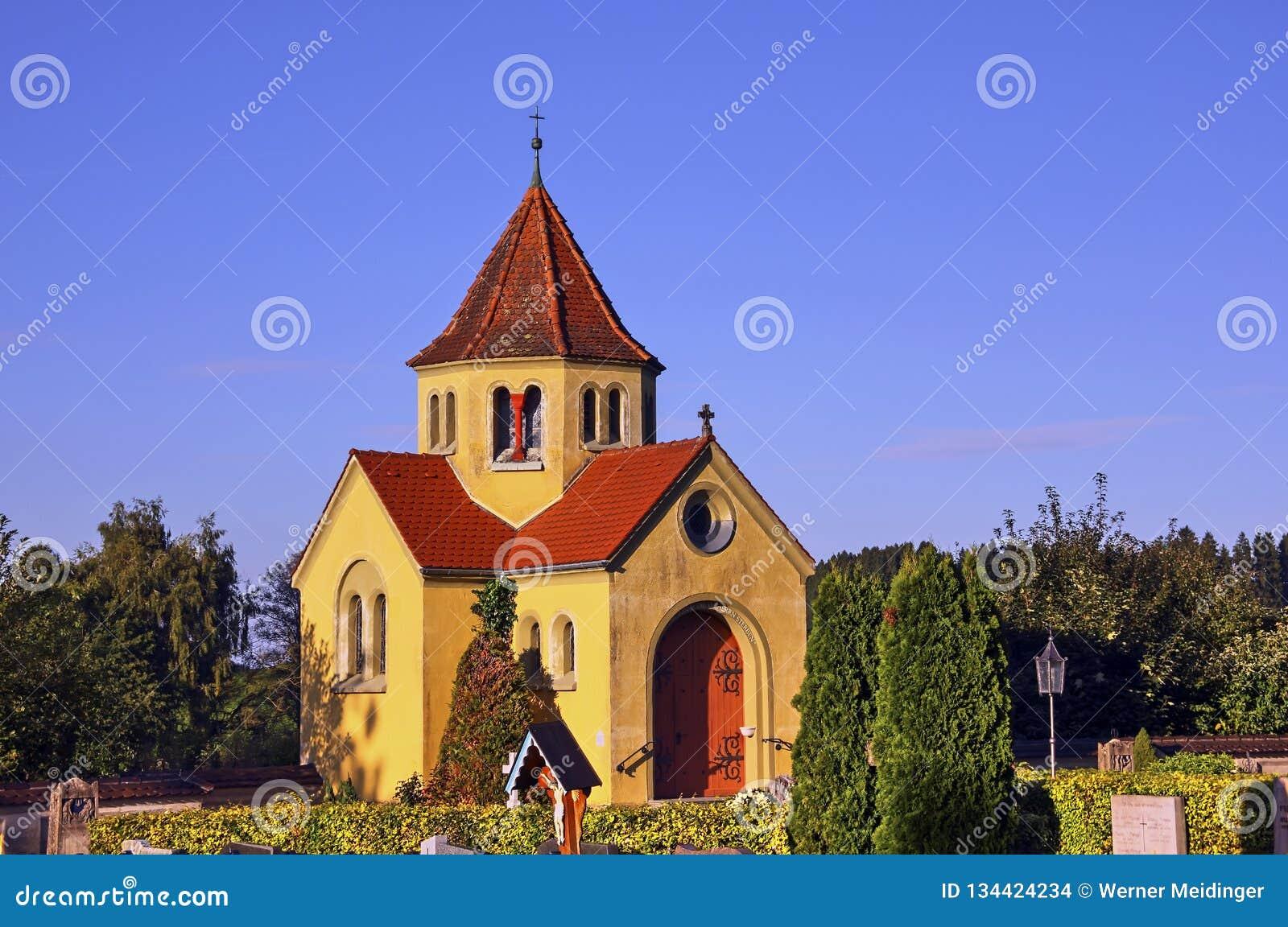 Chapelle de crypte dans le cimetière de Ratzenried, hl de ¼ d ArgenbÃ, Allgaeu, Baden-Wurttemberg, Allemagne