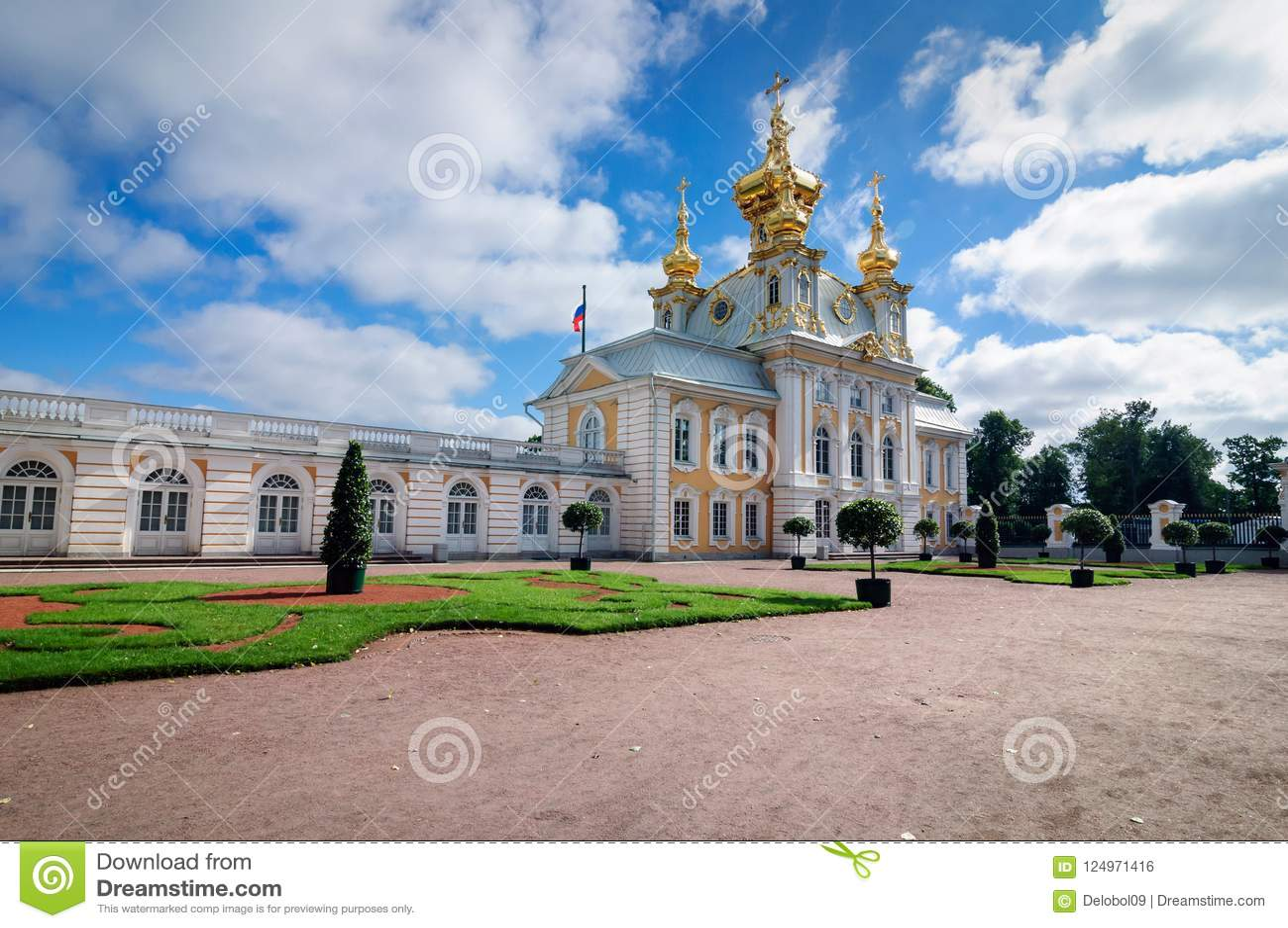 Chapelle est de palais grand de Peterhof, Russie